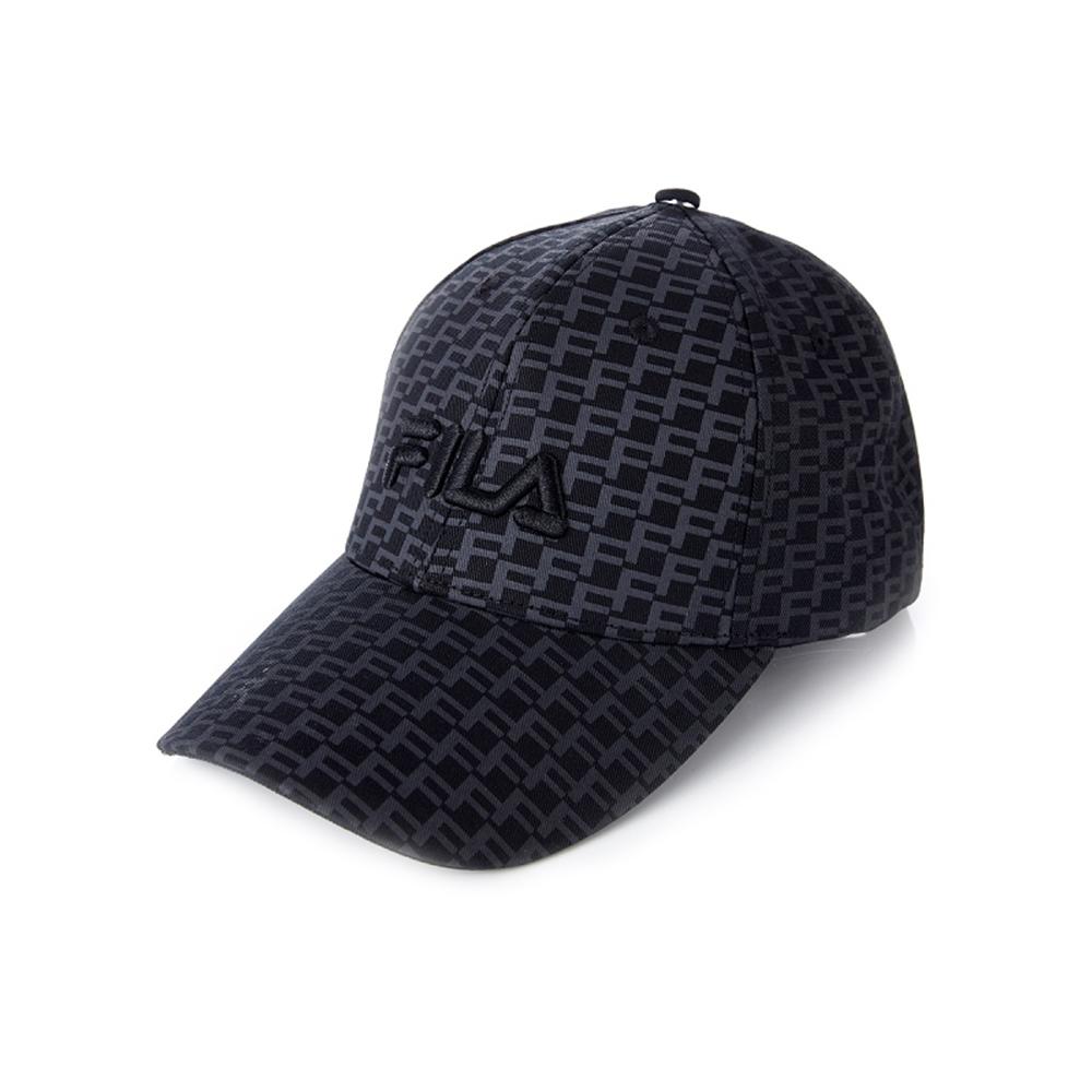 FILA 時尚LOGO帽-黑 HTV-1103-BK