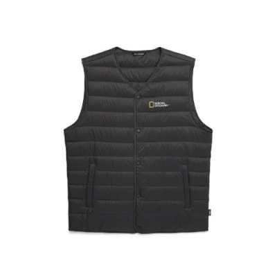 NATIONAL GEOGRAPHIC 男 Calis light goose down vest 羽絨背心 鋼鐵灰-N204MDV210297