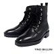 Tino Bellini 帥勁堅靭牛皮綁帶靴_黑 product thumbnail 1