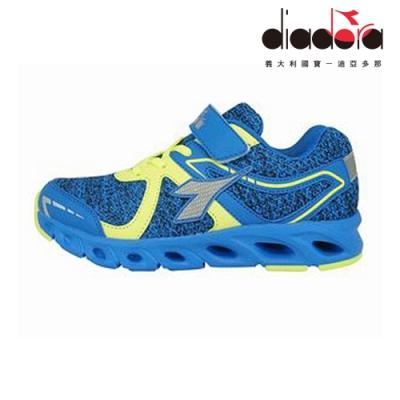 Diadora 兒童競速慢跑鞋 大童 加寬楦 藍 DA9AKR7876