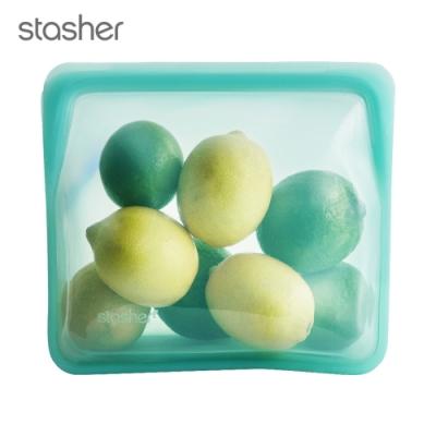 Stasher 站站環保按壓式矽膠密封袋-湖水藍(快)