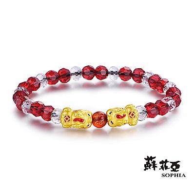 蘇菲亞SOPHIA - 開運系列可愛貔貅黃金手環(紅)