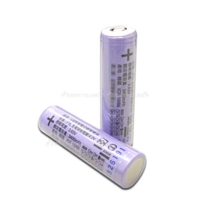 LG 安全認證 凸頭18650充電鋰電池 3400mAh(2顆入)無保護板 贈電池盒