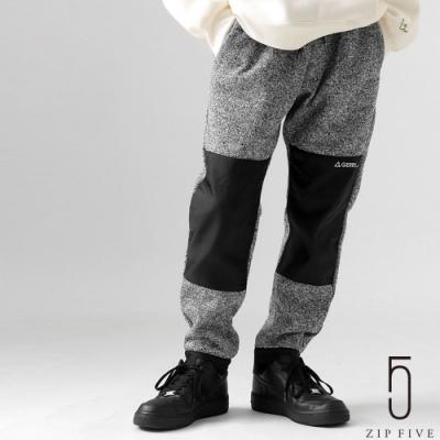 ZIP日本男裝 GERRY 異素材拼接鬆緊帶束口褲長褲 內刷毛 (3色)