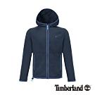 Timberland 男款深寶石藍色抓絨連帽外套|A1ZFZ