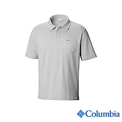 Columbia哥倫比亞 男款-UPF50快排Polo衫-灰色 UFM00690GY