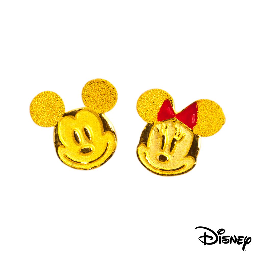 Disney迪士尼系列金飾 黃金耳環-搖擺米奇美妮大頭款 @ Y!購物