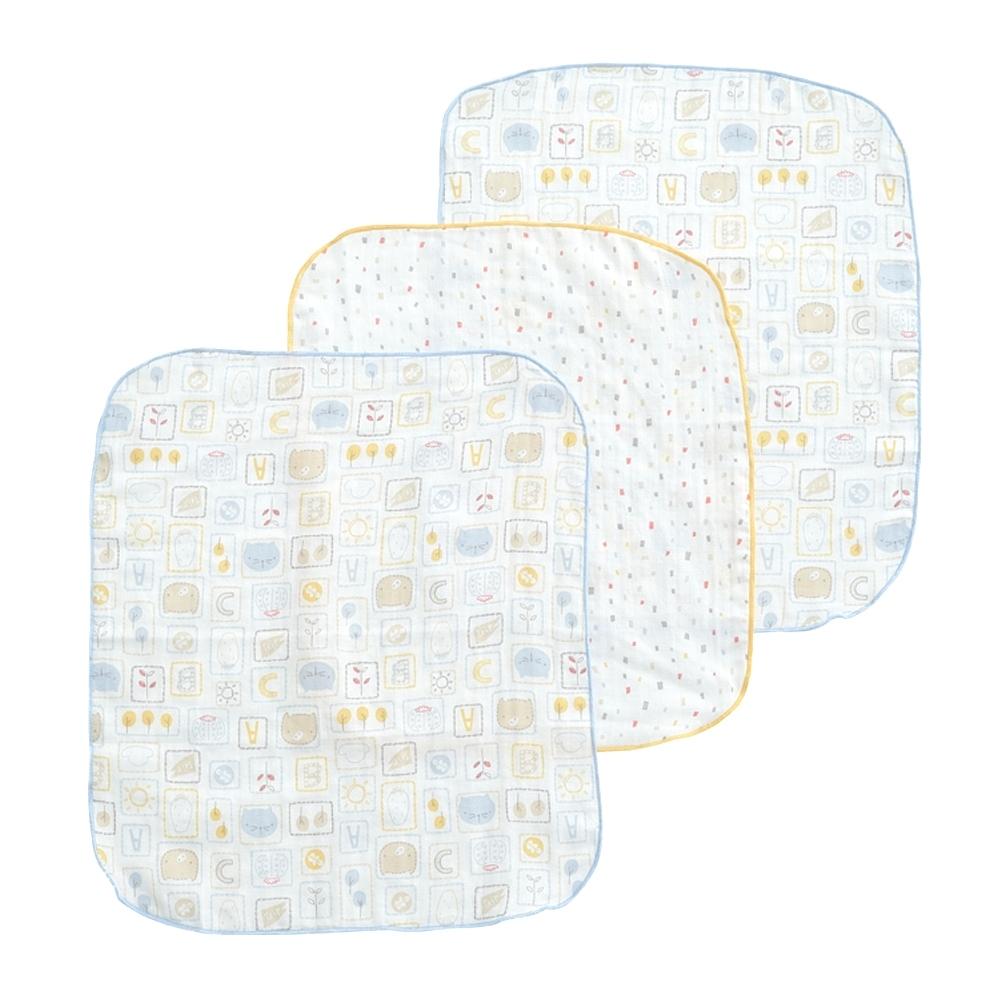 奇哥 動物派對方巾3入(30x34cm)