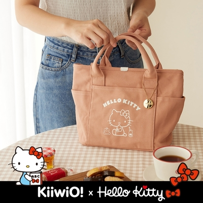 Hello Kitty x Kiiwi O! 聯名款.美式復古系列兩用帆布托特包 MOLLY (多色選)