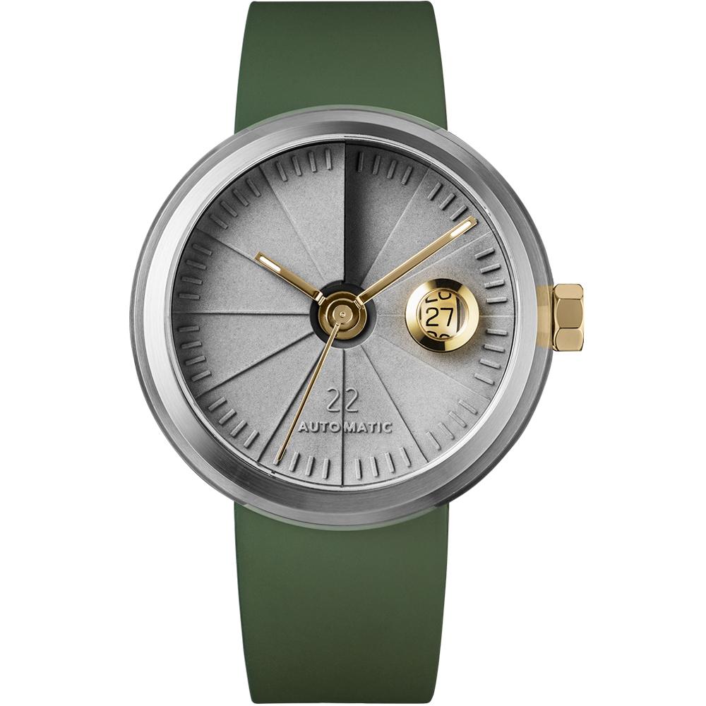 四度空間水泥機械錶-綠洲款/45mm