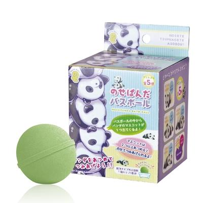 日本NOL-貓熊入浴球-5入(3Y+/森林香氣/附可愛公仔/泡澡球/沐浴球/洗澡玩具/交換禮物)