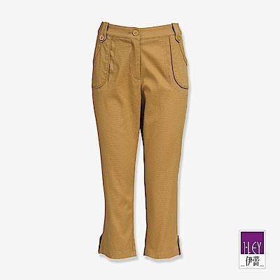 ILEY伊蕾 帶袢造型七分窄管褲(黑/可/灰)