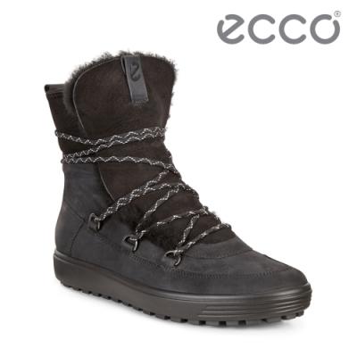 ECCO SOFT 7 TRED W 北歐暖冬時尚保暖高筒雪靴  女鞋 黑