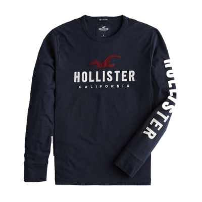 Hollister HCO 長袖 T恤 藍色  1476