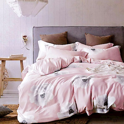 Lily Royal 60支頂級天絲 三件式床包組 雙人 夏至將至粉