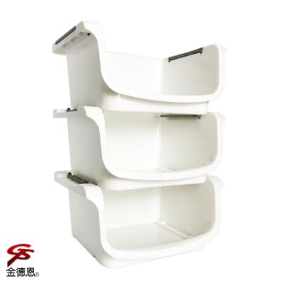 金德恩 台灣製造 三層分離疊放式居家置物收納架1組3入