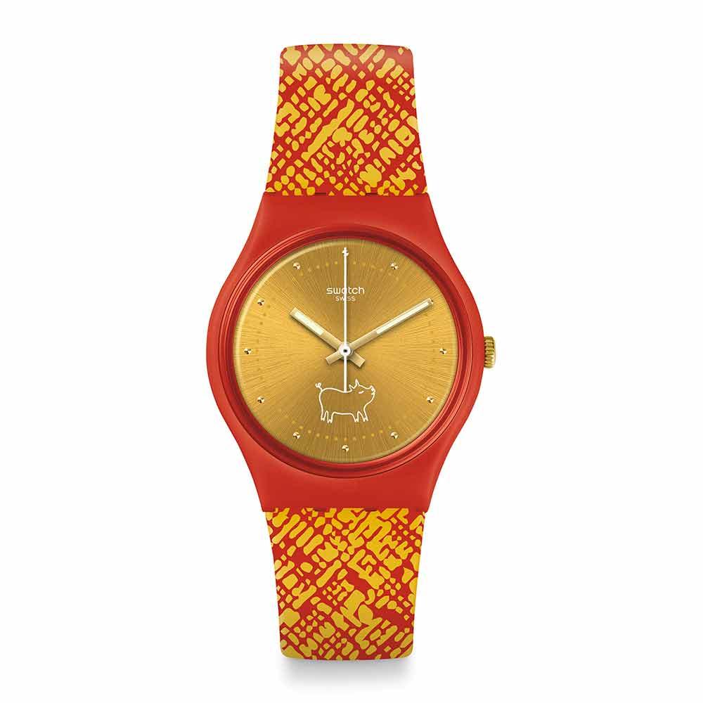 Swatch 生肖錶系列GEM OF NEW YEAR豬光寶氣