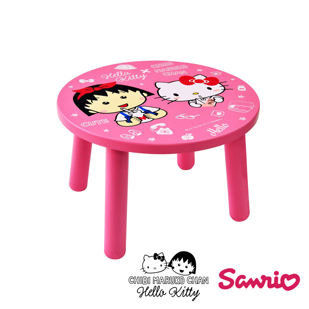 Hello Kitty x 小丸子 聯名款 矮凳 椅子 兒童椅
