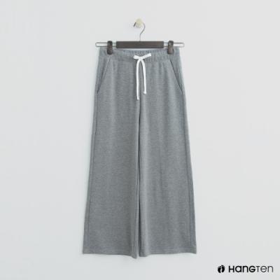 Hang Ten - 女裝 - 抽繩純色休閒寬褲 - 灰
