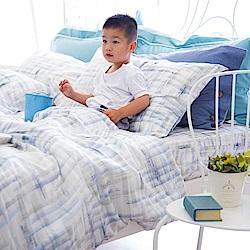 OLIVIA skittles 藍 標準雙人床包冬夏兩用被套四件組 天絲™萊賽爾 台灣製