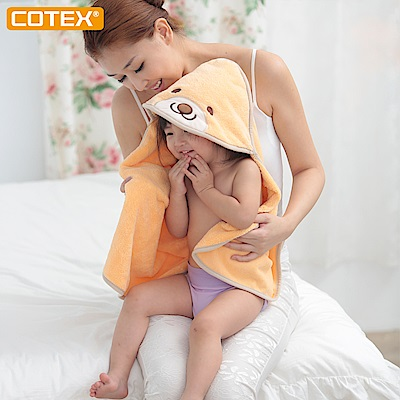 COTEX可透舒 貝爾熊浴巾  橘色