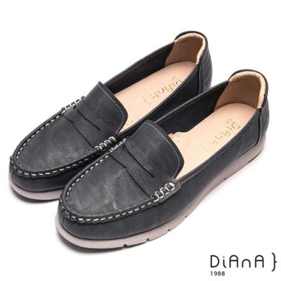 DIANA 鏤空層次車線樂活舒適休閒鞋-自在生活-灰