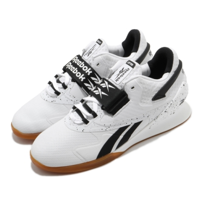 Reebok 訓練鞋 Legacy Lifter II 男鞋 健身房 重量訓練 支撐 穩定 包覆 白 黑 FU9458