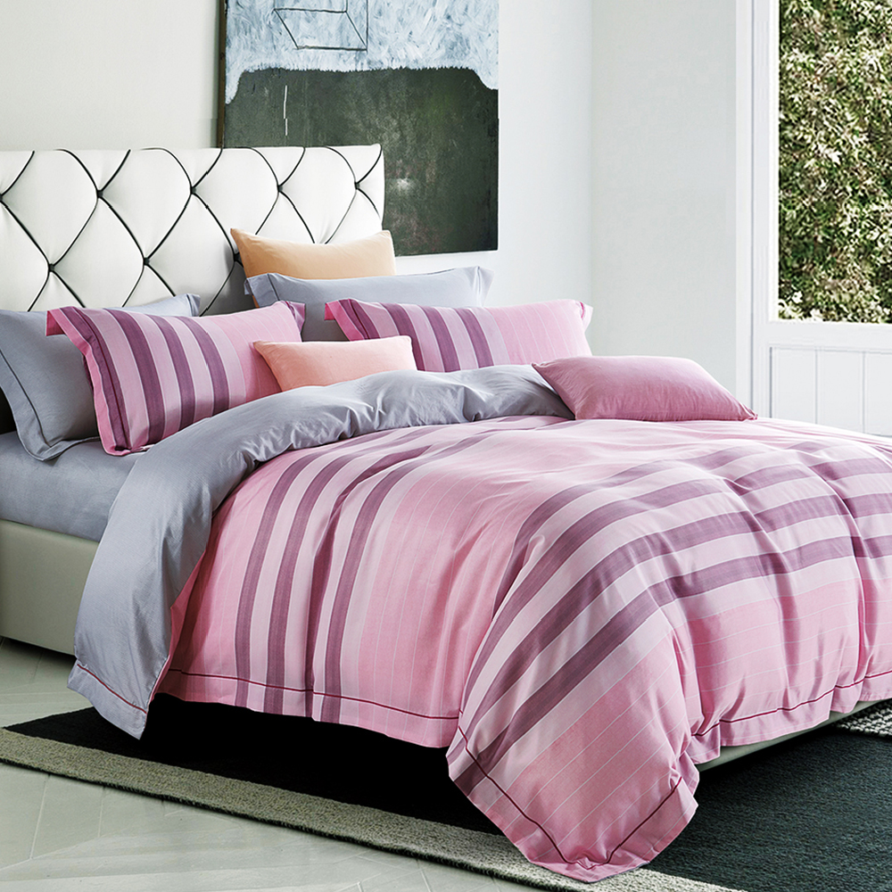 Faieno 加大四件式 天絲+3M吸濕排汗專利技術兩用被套床包組-容嬌