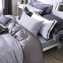 OLIVIA  德瑞克 標準雙人床包歐式枕套三件組 300織天絲TM萊賽爾 台灣製