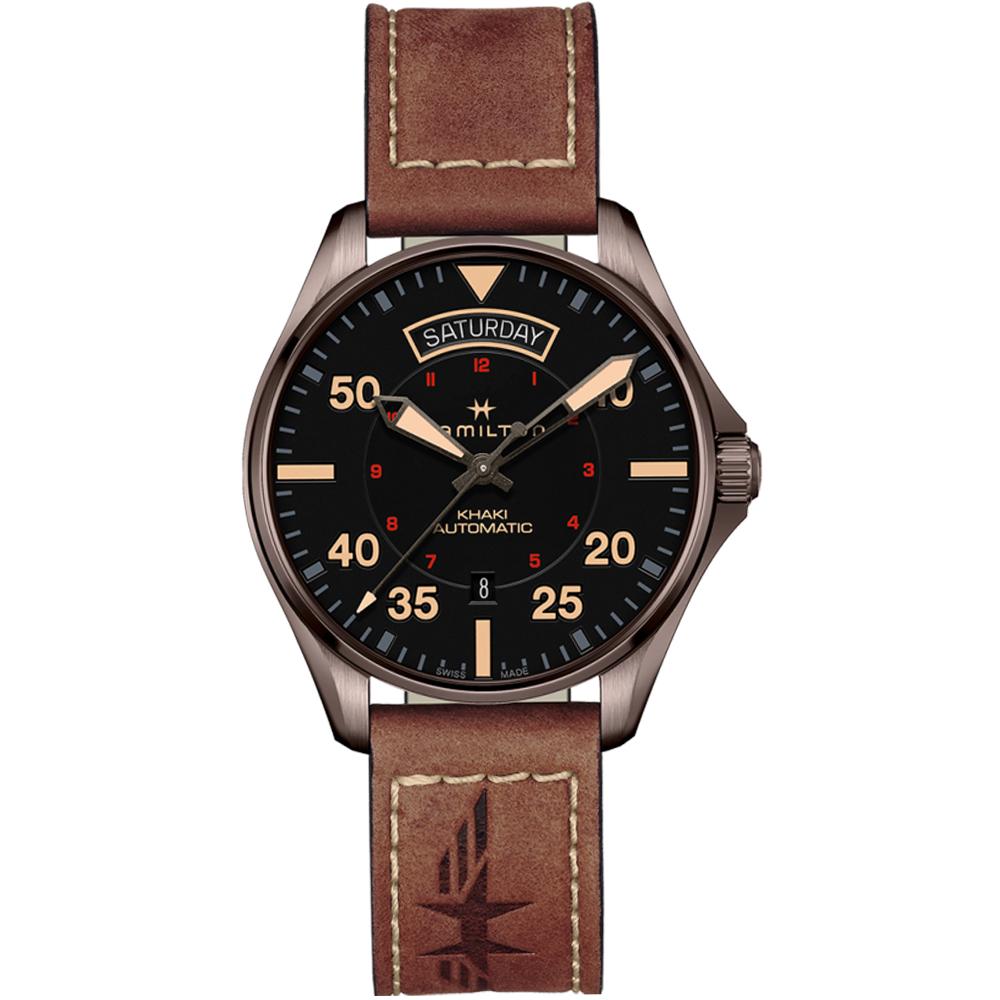 Hamilton漢米爾頓卡其航空系列DAY DATE機械腕錶(H64605531)