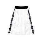 FILA KIDS #日潮攻略首部曲 女童七分雪紡褶裙-白色 5SKU-4436-WT