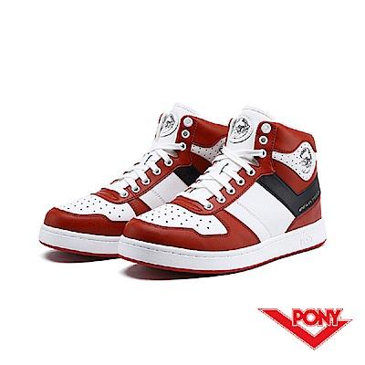 【PONY】City Wings 系列-復古籃球鞋款-男-紅