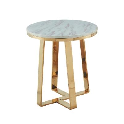 柏蒂家居-娜莉塔1.7尺圓形石面小茶几/邊桌-50x50x53cm