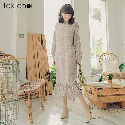 東京著衣-韓妞必敗寬鬆後綁蝴蝶結魚尾洋裝