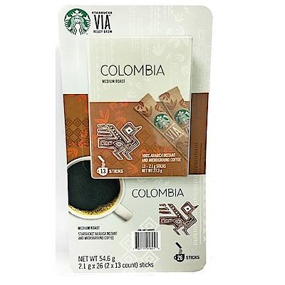 星巴克STARBUCKS 哥倫比亞即溶研磨咖啡(2.1g*26包入/組)