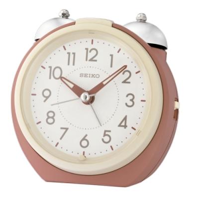 SEIKO 日本精工 大聲公 滑動式秒針 貪睡 鬧鐘(QHK054R)菊/10.5X11.2cm