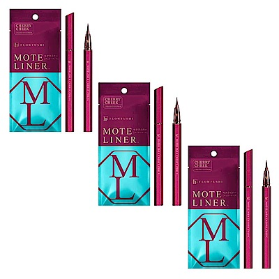 MOTE LINER大和匠筆眼線液-櫻桃紅3入組