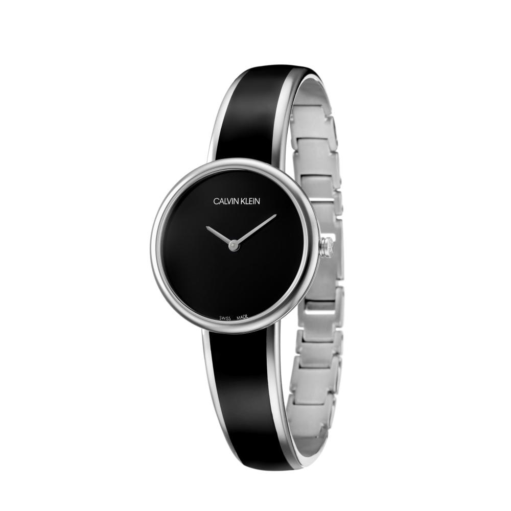 Calvin Klein CK Seduce個性迷人手鐲腕錶(K4E2N111)黑30mm