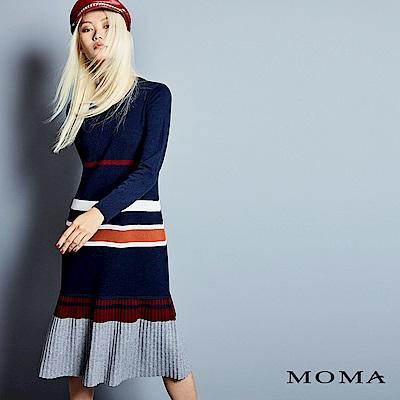 MOMA多彩條紋針織洋裝