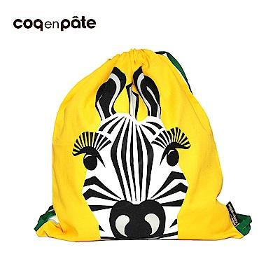 【COQENPATE】法國有機棉無毒環保布包 - 童趣輕鬆包- 斑馬