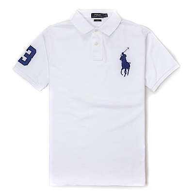 Polo Rlaph Lauren 經典電繡大馬Polo衫(Custom)-白色
