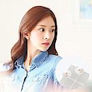 梨花HaNA 韓國戴珍珠的少女貝殼人魚珍珠耳環
