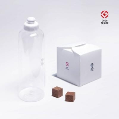 picky digger嚴選茶茶重量級清潔優雅家居盒 (64入/1盒)X2+ 茶茶濃縮還原瓶(450ml 空瓶)X2