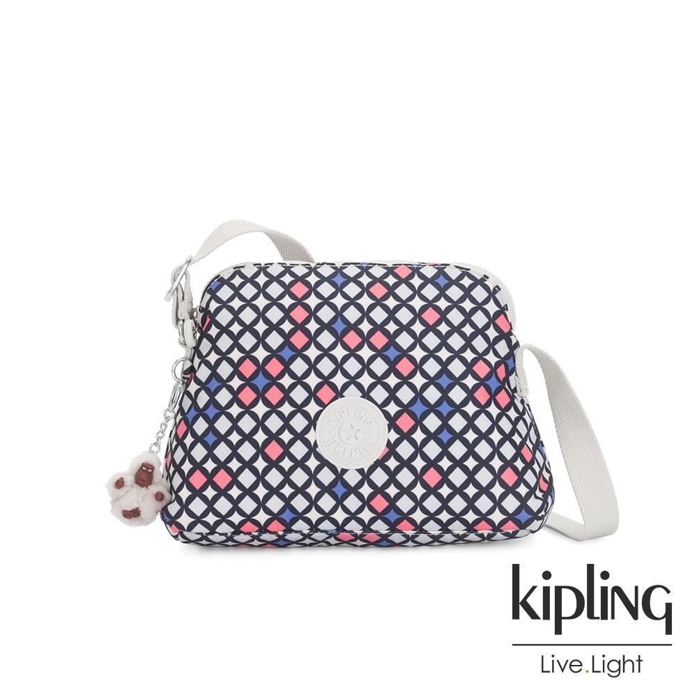 Kipling 華麗閃耀繽紛隨身斜背包-DIEP