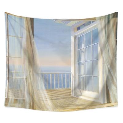 半島良品 北歐風裝飾掛布-窗景系列/夢幻窗景 150x130cm