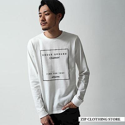 簡約長袖T恤(3色) ZIP日本男裝