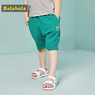 Balabala巴拉巴拉-仙人掌小標印花寶寶褲-男(2色)