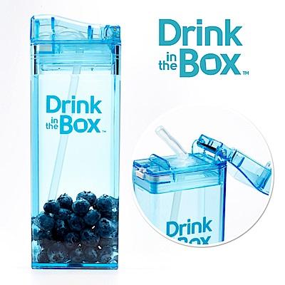加拿大Drink in the box 兒童戶外方形吸管杯(大)-355ml-海洋藍