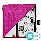 La Millou 單面巧柔豆豆毯(加大款)-樹屋貓頭鷹(沁甜莓果紅) product thumbnail 2
