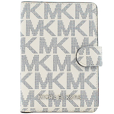 MICHAEL KORS Jet Set經典PVC護照夾(白)